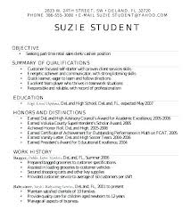 Sample Resume For High School Student Graduate Format Simple