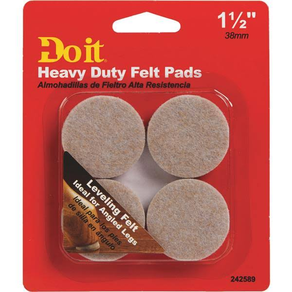 Shepherd Hardware 242589 Felt Level Pad - 4pk, 1.5""