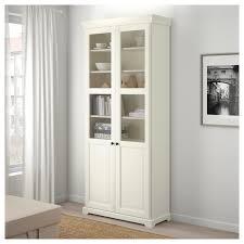 liatorp bokhylla med glasdörrar vit 96x214 cm ikea