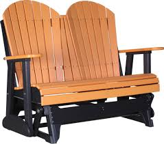 luxcraft poly 4ft adirondack style glider swingsets luxcraft