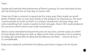 Steve Jobs memorations begin with Tim Cook letter to Apple