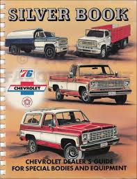 100 Dealers Truck Equipment 1976 Chevrolet Silver Book Special Dealer Album