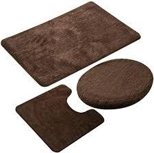 jian ya na 3 teiliges badezimmerteppich set rutschfeste mikrofaser zottelig weich badematte konturbadematte toilettensitzbezug polypropylen