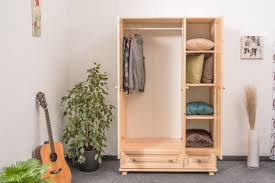 wardrobe 015 solid pine wood clearly varnished 3 doors size