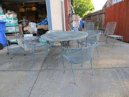 Meadowcraft Patio Furniture Glides by Meadowcraft Metal Patio Set Table Chairs Extra Pcs Bought 1967