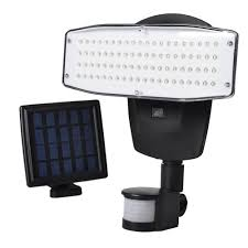 vibelite solar lights outdoor 80led solar powered security shed