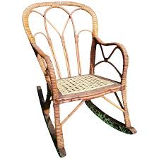 Very Rare Antique Victorian Child's Wicker Rocker Circa 1860's ...