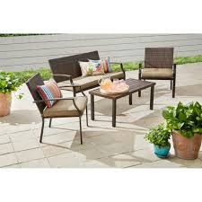 Patio Conversation Set Covers by Better Homes And Gardens Boxford 4 Piece Wicker Stacking