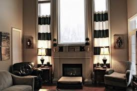 Black And White Striped Curtains by Black And White Striped Curtains Taupe Wall Maybe For The Home