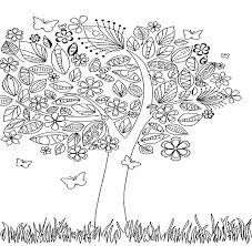 Tree Adult Fall Coloring Pages
