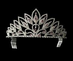 amethyst rhinestone pageant tiara elegant bridal hair accessories