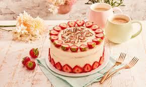 kleine erdbeer joghurt sahne torte