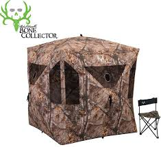 Ameristep Chair Blind Youtube by Ameristep Bone Collector Combo Hub Style 3 Person Ground Blind