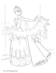 Elsa Frozen Coloring Page Pages Printable Book And