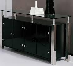 Stunning Inside Contemporary Dining Room Buffet Furniture Gallery Glass Server Extraordinary
