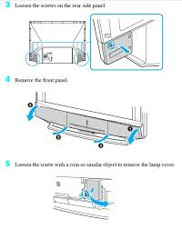 Kdf E50a10 Lamp Replacement Instructions by Sony Wega Lamp Lamps Inspire Ideas