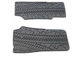 Mopar OEM Jeep Wrangler Tire Tread Style Slush Floor Mats