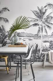 esszimmer fototapete tropische landschaft mit palmen schwarz und weiß 158901