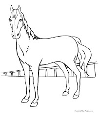 Free Printable Coloring Pages Horse