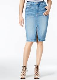guess guess high waist cotton denim pencil skirt skirts shop