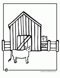 Cows On The Farm Coloring Page