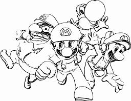 √ Coloriage Mario Luigi Beau Coloriage Mario Et Luigi Ideas