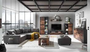 jones wohnzimmer komplettset 2 style dunkel