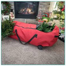 5ft Christmas Tree Storage Bag by Pre Lit Flocked Christmas Tree Sale 3