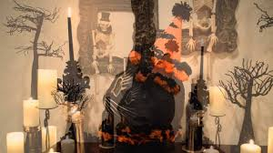 Katherines Collection Halloween Mirror by Bethany Lowe Sassy Cat Lantern Large Black Bow Halloween Shoppe