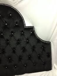 Black Leather Headboard King Size by Night Sky Tufted Headboard With Rhinestones Full Size Tufted