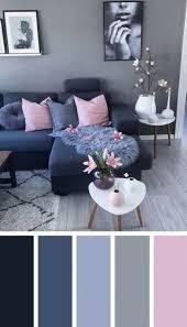 dunkelblau rosa wohnzimmer farbschema ideen livingroomideas