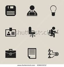 icon bureau set 9 editable bureau icons includes stock vector 656819212