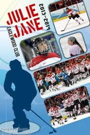 Ice Hockey Sports Poster Template