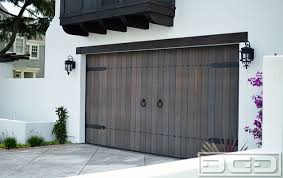 Customized Wood Garage Door Gate Design In An Authentic Spanish Colonial Style Rustic