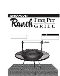 Brinkmann Electric Patio Grill Amazon by Brinkmann Fire Pit Fire Pit U0026 Grill User Guide Manualsonline Com