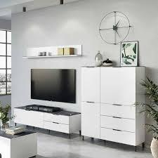 wohnzimmer tv möbel set zweifarbig mydenza 3 teilig
