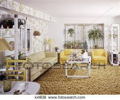 1970 1970s wohnzimmer salbei gelb stühle weiß