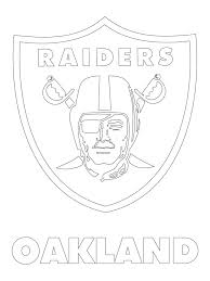 Oakland Raiders Logo NFL Football Logos Coloring Pages