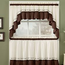 Kitchen Window Curtain Ideas Light Grey Rolller Curtains Glass Door Cabinet White Painting Drawer Hardwood Teak Black