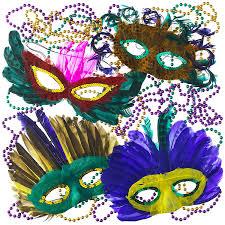 Mardi Gras Mask Door Decoration by Amazon Com Mardi Gras Beads U0026 Feather Masks Party Pack Toys U0026 Games