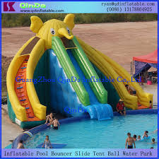 Giant Inflatable Pool Slide For Adult And Kid Elephant Summer Water Park