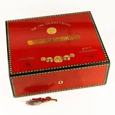 Cigar Cabinet Humidor Uk by Elie Bleu Medals Medailles Red Humidor 75 Cigars Flor Fina W