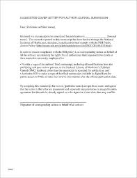 Manuscript Cover Letter Example Lovely Scientific Submission Sample For Of