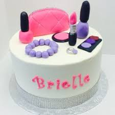 Spa Party Buttercream Cake With Fondant Details