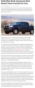 Digital Journal: Kelly Blue Book Announces Best Resale Value Awards ... Everyman Driver 2017 Ford F150 Wins Best Buy Of The Year For Truck Data Values Prices Api Databases Blue Book Price Value Rhcarspcom 1985 Toyota Pickup Back To The For Trucks Car Information 2019 20 2000 Dodge Durango Reviews 2018 Chevrolet Silverado First Look Kelley Overview Captures Raptors Catching Air Fordtruckscom Throw A Little Book Party Chasing After Dear 1923 Federal Dealer Sales Brochure Mechanical Features Chevy Elegant C K Tractor Most Popular Vehicles And Where Photo Image Gallery Mega Cab Fifth Wheel Camper