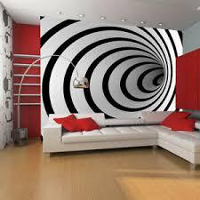 details zu vlies fototapete schwarz weiß tunnel hypnose tapete wandbilder 100401 6