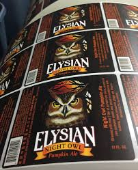 Elysian Night Owl Pumpkin Ale by Richmark Label 15 Photos Printing Services 1110 E Pine St