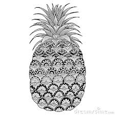 Pineapple Outline Fruit Coloring Page Free 580x819