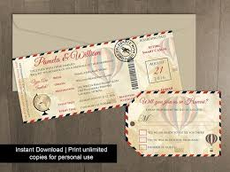 Luggage Tag Invitation Template Diy Printable Wedding Boarding Pass 2450328