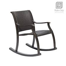 Rattan Rocker Chair, Weather Resistant Rocking Armchair, Outdoor ... Wicker Rocking Chair Grey At Home Windsor Black Rocker And End Table Set With Patio Resin Steel Frame Outdoor Porch Noble House Harmony With White 3pc Cushion Good Looking Glider Big Plans Sw Chairs Lounge Dark Brown Amazoncom Cloud Mountain 3 Piece Bistro Decorating Rockers Gliders Coral Coast Casco Bay